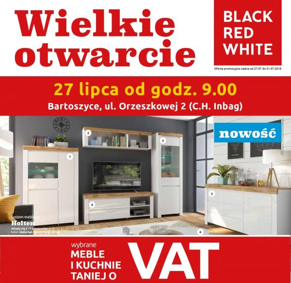 Meble Holten Black Red White